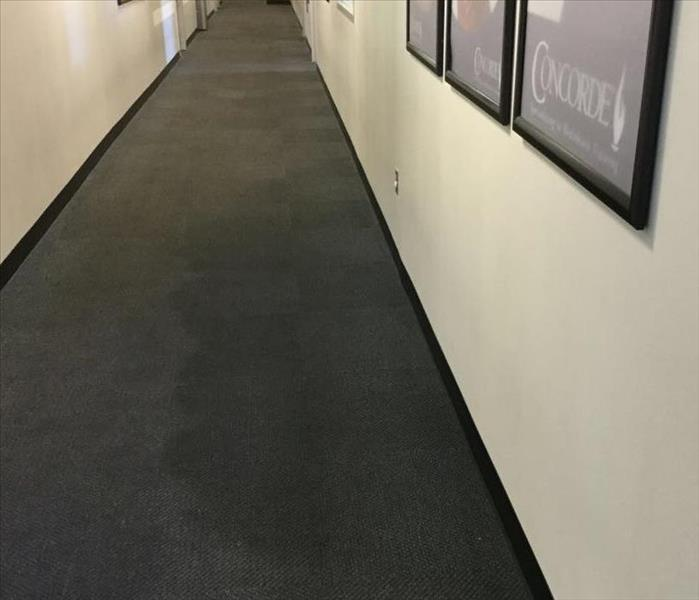 Wet Carpets At Work?  No Problem! Before